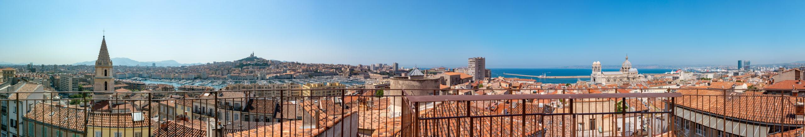 Panoramique 360 des toits de Marseille. © Stéphane Chassignole 2020